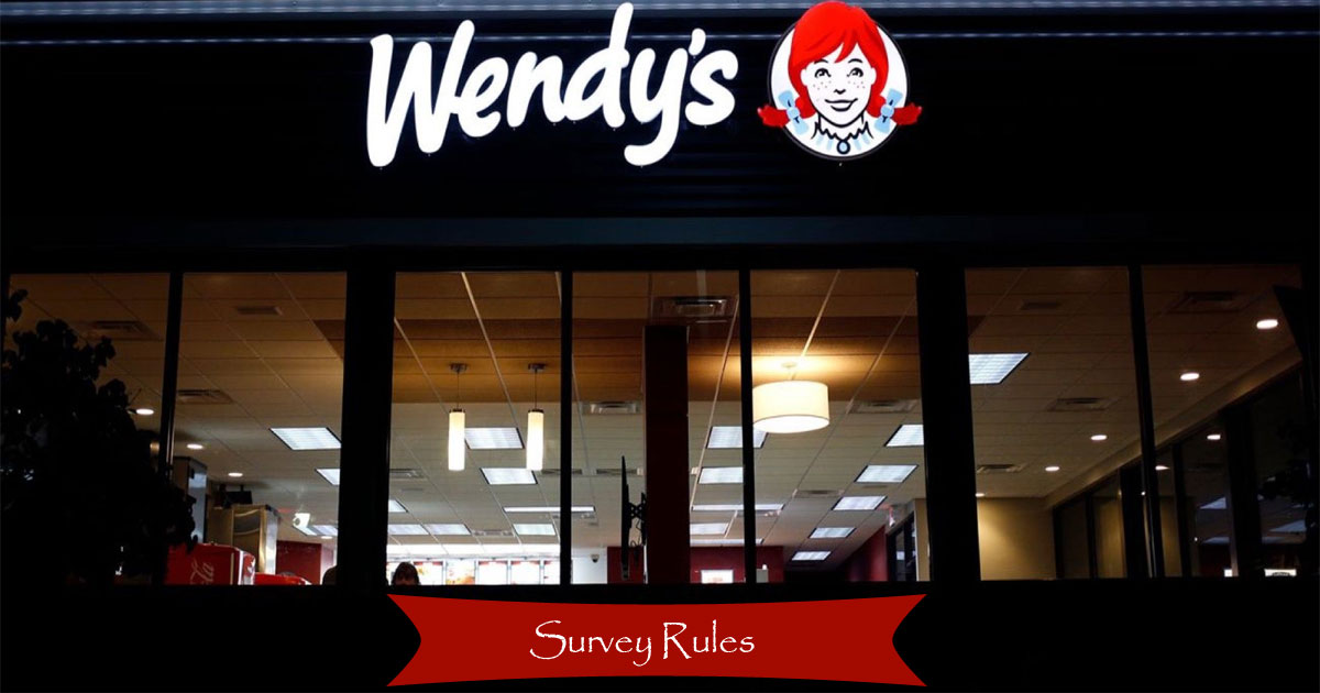 Wendy's Survey Rules and conditions Image